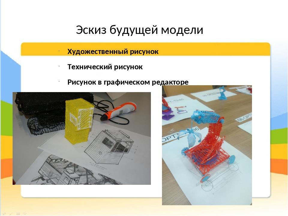 Эскиз будущей модели Художественный рисунок Технический рисунок Рисунок в гра...