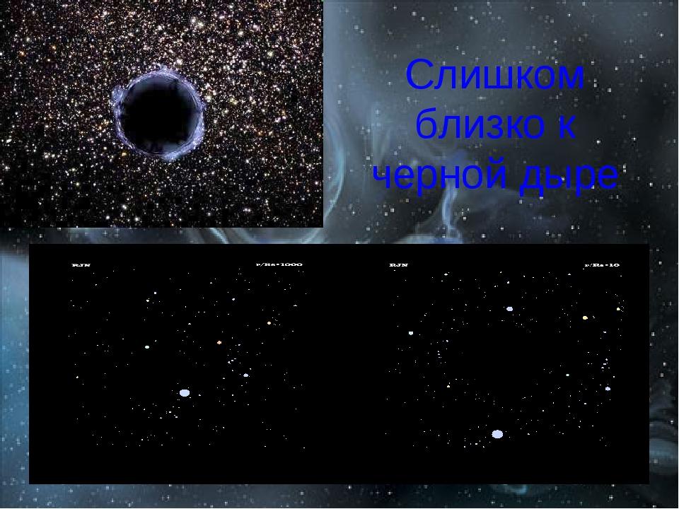 Слишком близко к черной дыре