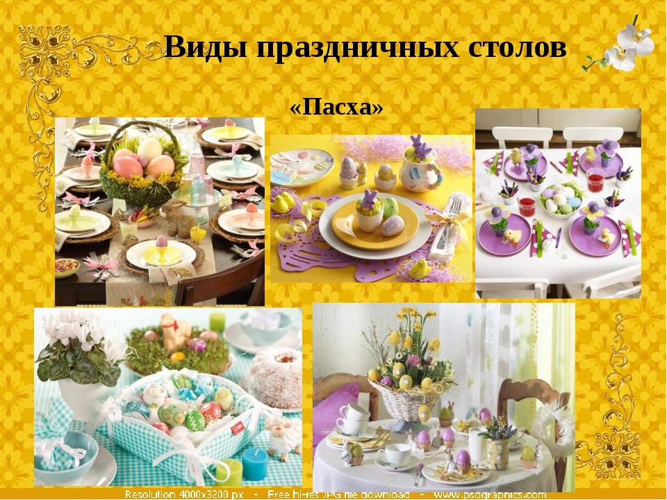 Виды праздничных столов «Пасха»