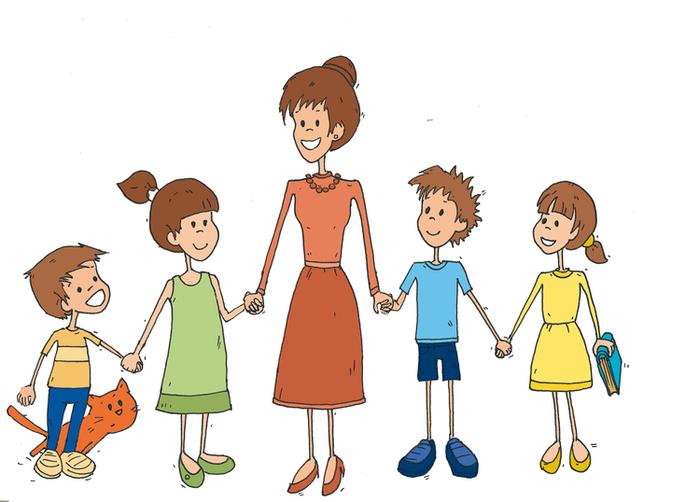 Рисунок воспитатель и дети