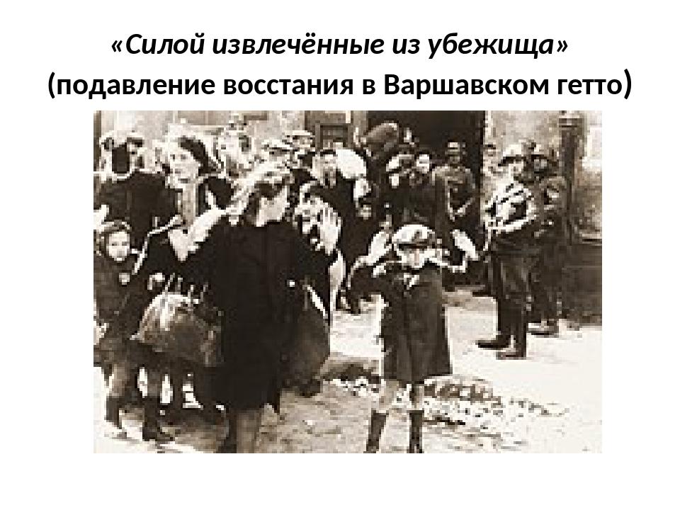 «Силой извлечённые из убежища» (подавление восстания в Варшавском гетто)