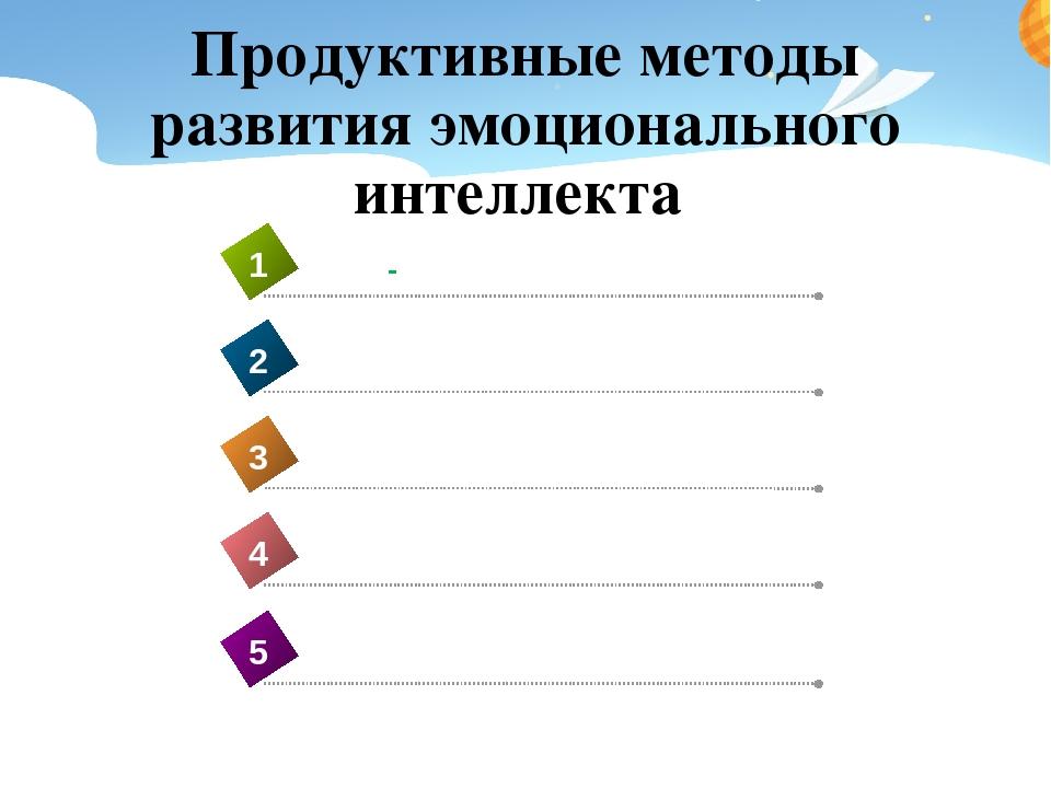 Продуктивные методы развития эмоционального интеллекта ДИСКУССИЯ 4 АРТ-ТЕРАПИ...