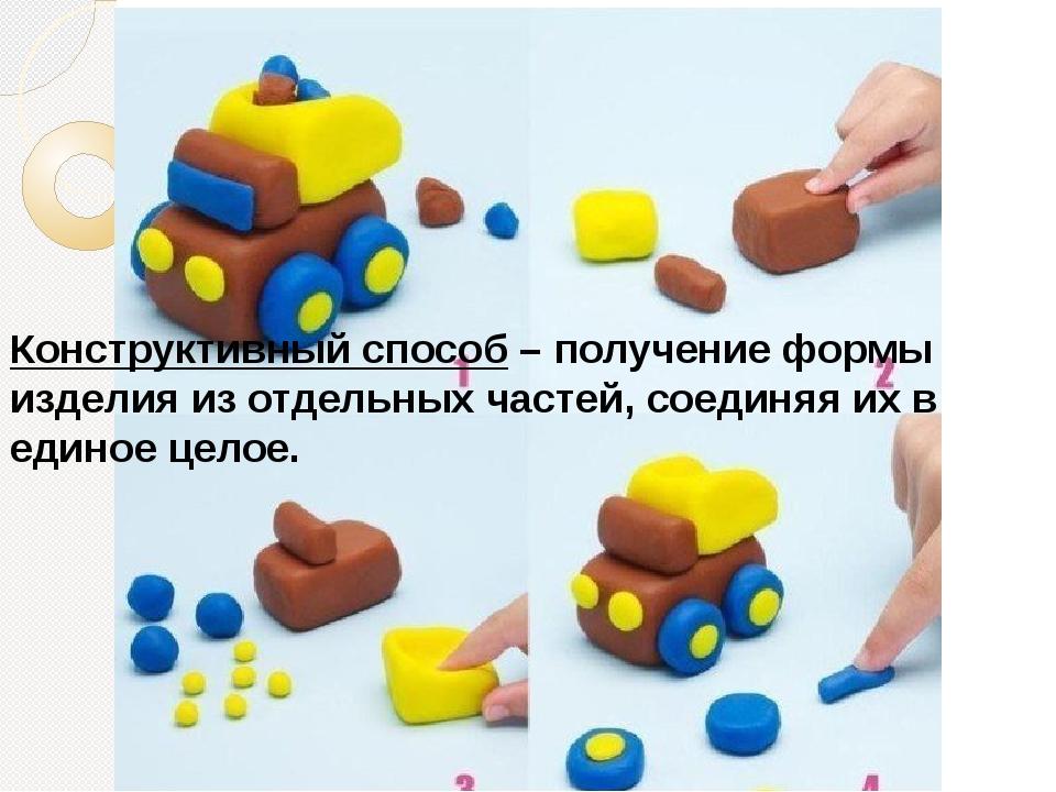 Конструктивный способ– получение формы изделия из отдельных частей, соединяя...