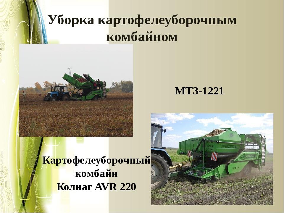 Уборка картофелеуборочным комбайном МТЗ-1221 Картофелеуборочный комбайн Колна...