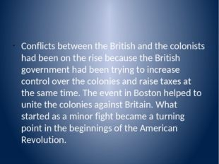colonists become increasingly resentful of british rule history essay 13112009 most colonists continued to quietly accept british rule until  and required colonists to quarter british  14 to become a journeyman printer.