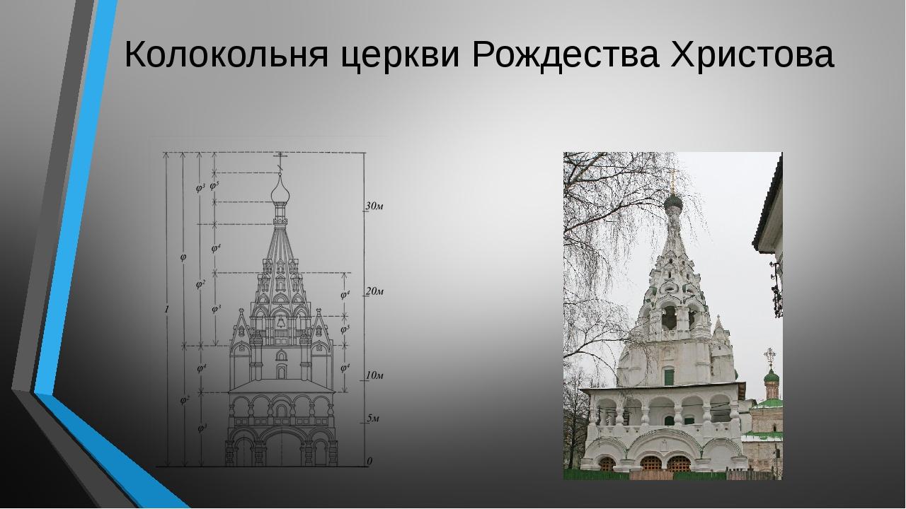 Колокольня церкви Рождества Христова