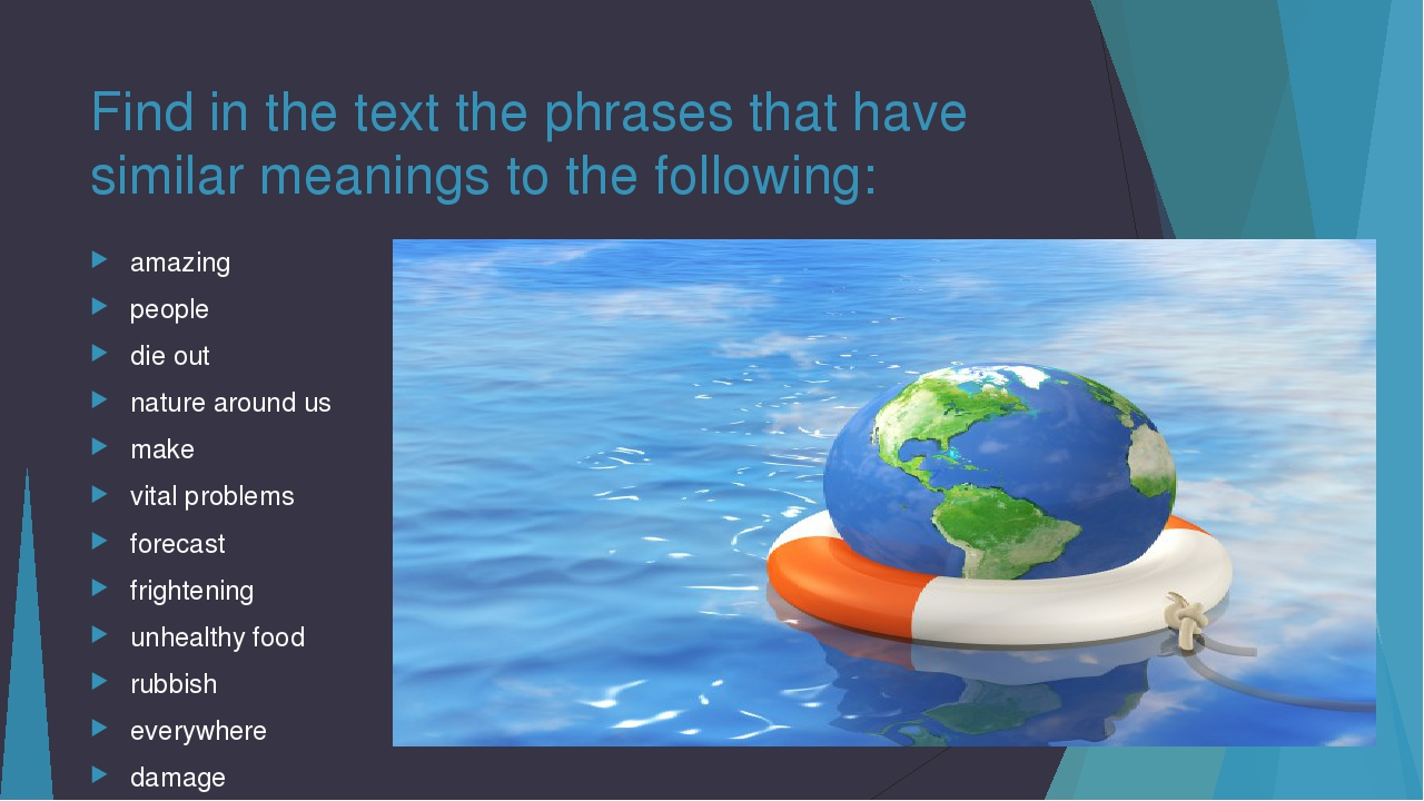 Find in the text the phrases that have similar meanings to the following: ama...