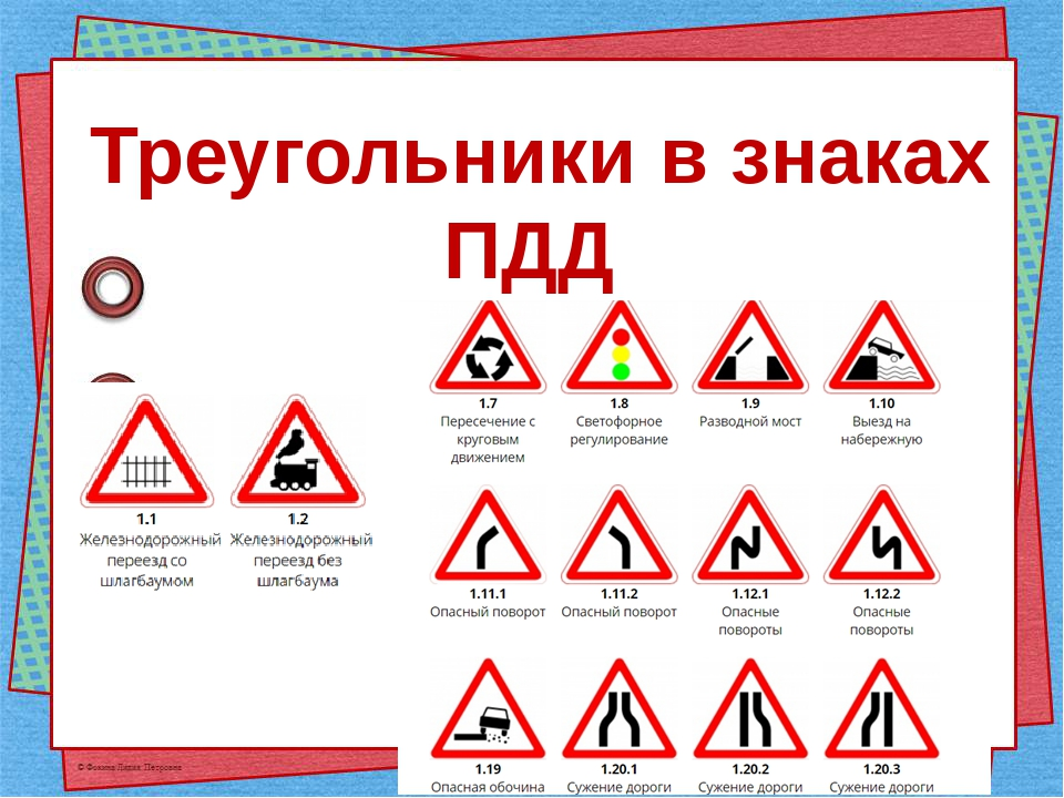 Треугольники в знаках ПДД