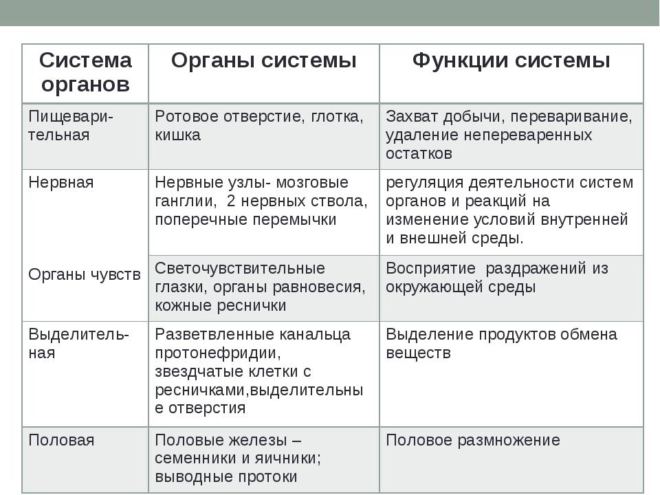 Система органовОрганы системыФункции системы Пищевари- тельнаяРотовое отве...