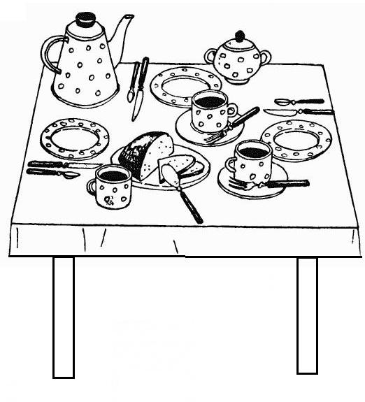накрытый стол по этикету рисунок заглянуть интернет-магазин