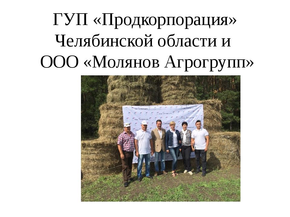 ГУП «Продкорпорация» Челябинской области и ООО «Молянов Агрогрупп»