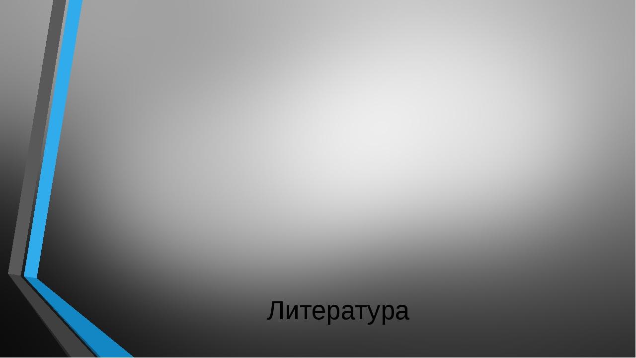 Литература  1.Аветисян В.Б «Славянский круг» -Нижний Новгород: РИ «Бегемот»...