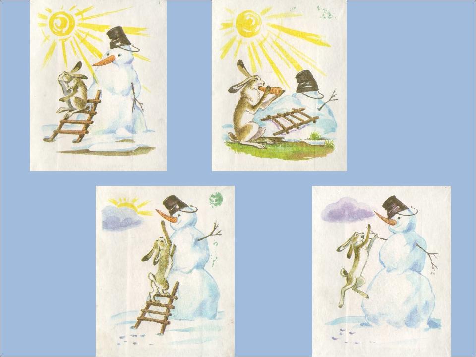 прохладное время занятие по серии сюжетных картинок снеговик нему