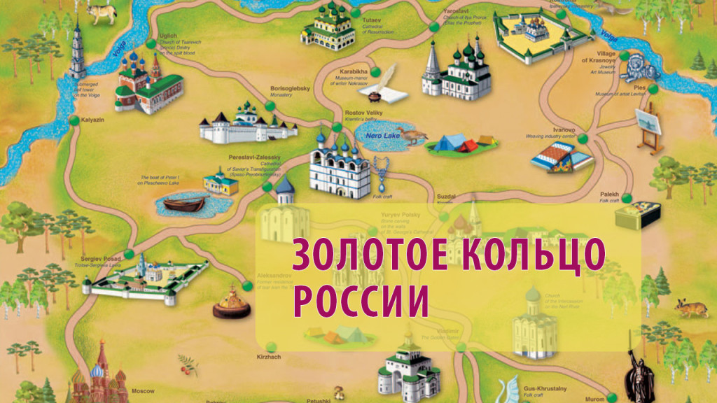 Золотое кольцо россии на карте с картинками