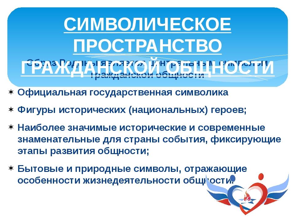 Образ Родины является центральным символом гражданской общности Официальная г...