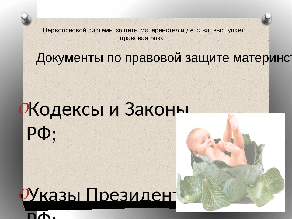 Кодексы и Законы РФ; Кодексы и Законы РФ; Указы Президента РФ; Постановлен...