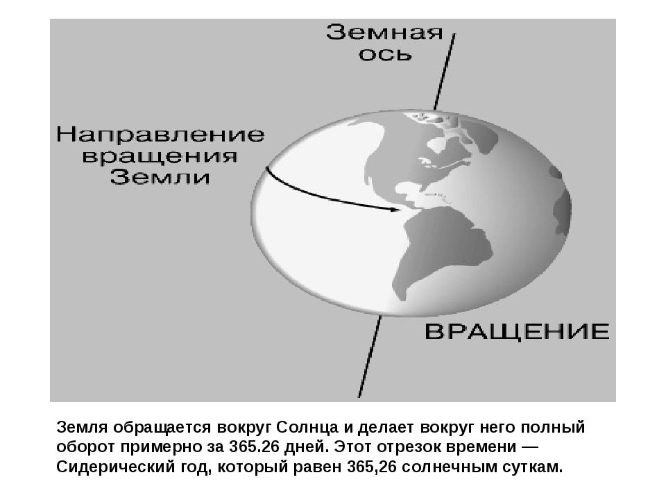 Земля обращается вокруг Солнца и делает вокруг него полный оборот примерно за...