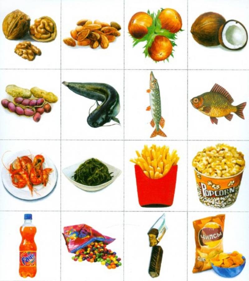 Картинки с продуктами питания для детского сада