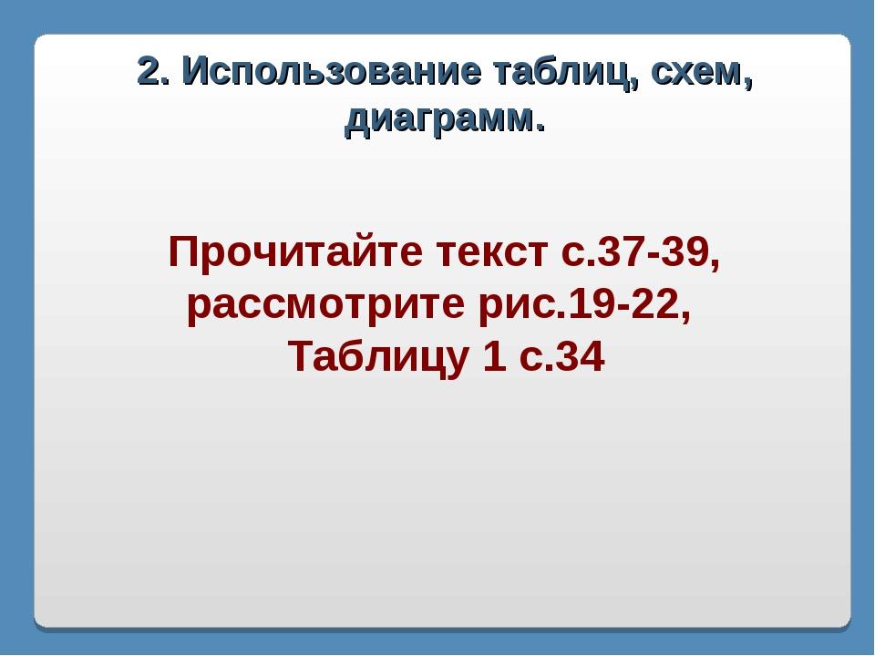2. Использование таблиц, схем, диаграмм. Прочитайте текст с.37-39, рассмотрит...