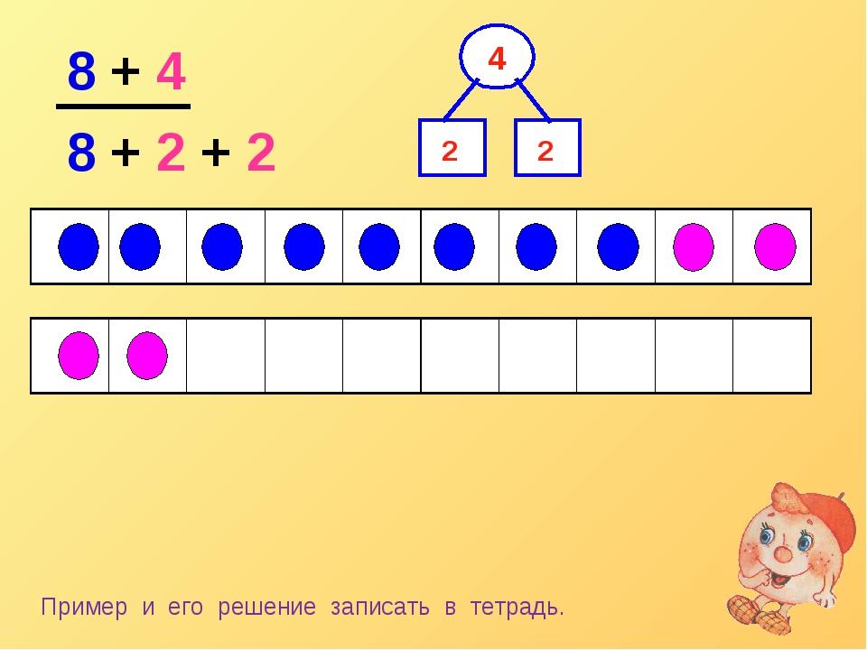 8 + 4 8 + 2 + 2 2 2 Пример и его решение записать в тетрадь....