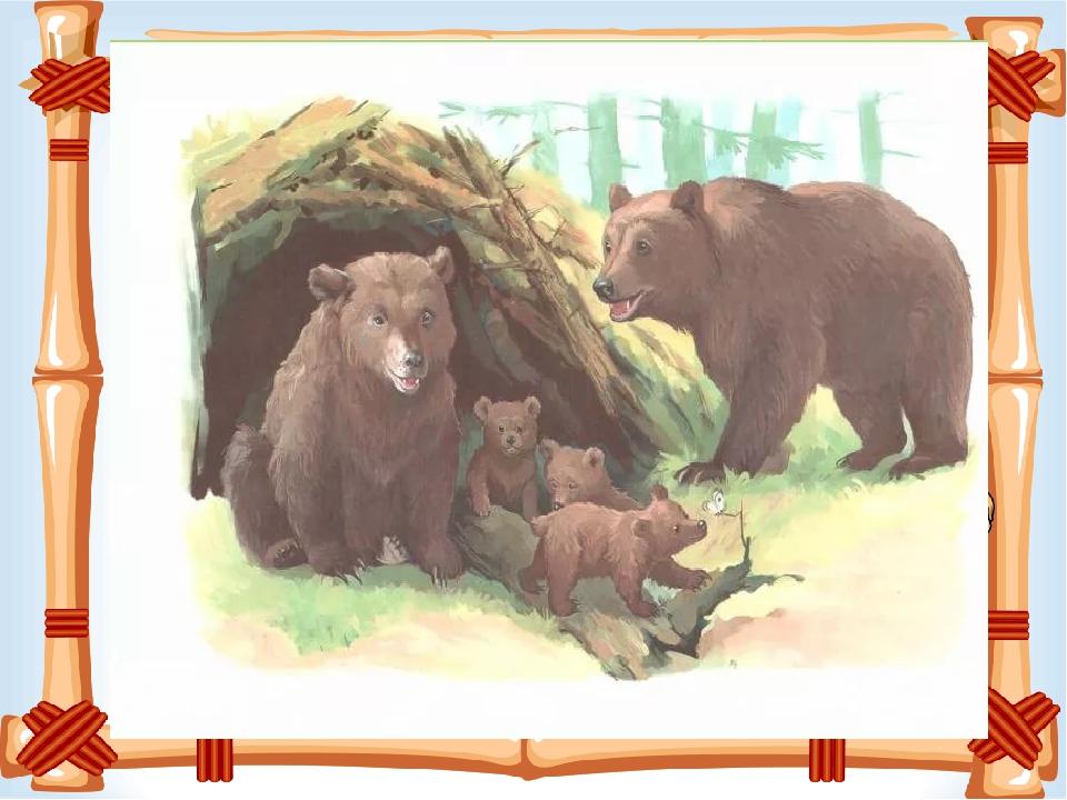 Медведь и медвежонок картинки для детей дошкольного возраста
