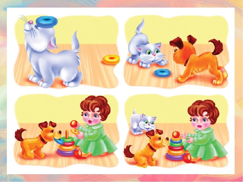 Картинки с сюжетом для развития речи для малышей
