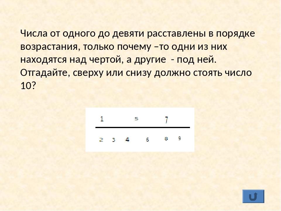 Числа от одного до девяти расставлены в порядке возрастания, только почему –т...