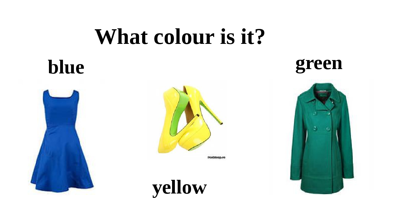 What colour is it? blue yellow green