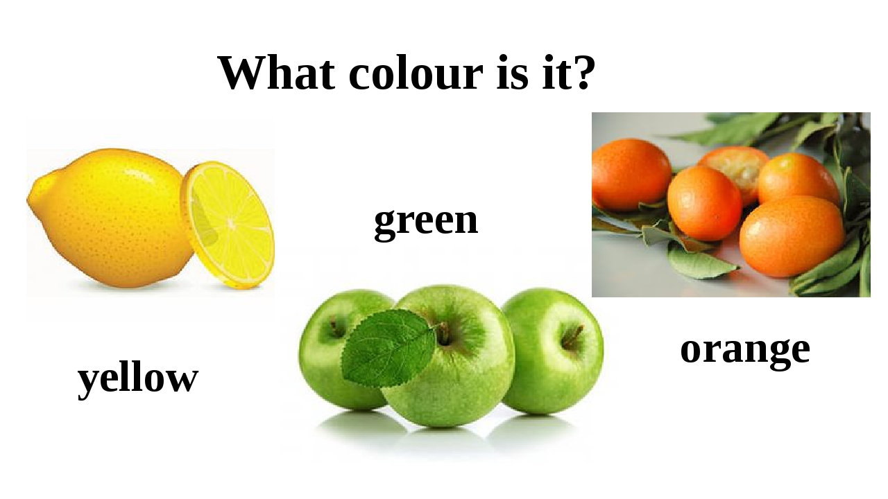 What colour is it? yellow green orange