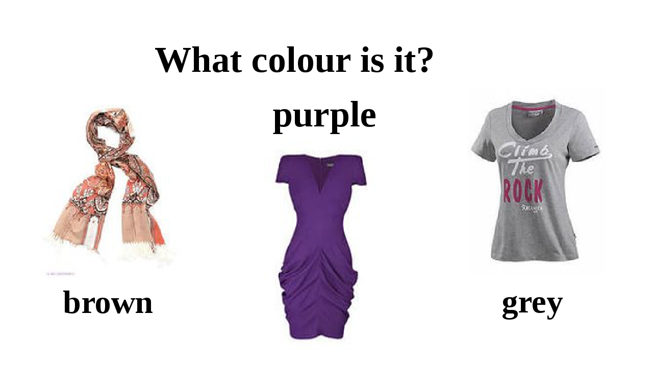 What colour is it? brown grey purple