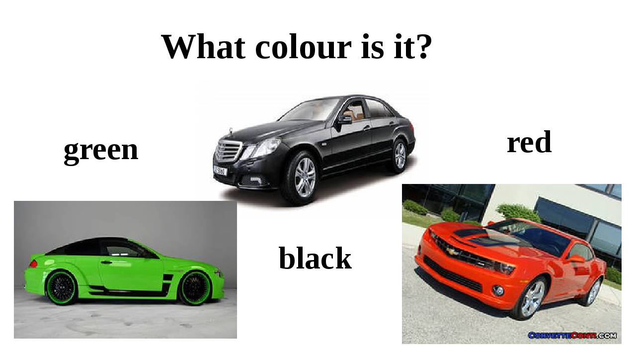 red What colour is it? green black