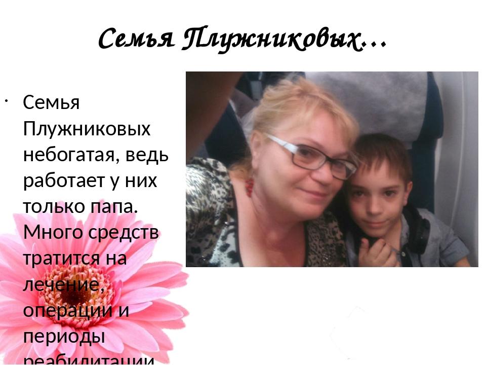 Семья Плужниковых… Семья Плужниковых небогатая, ведь работает у них только па...
