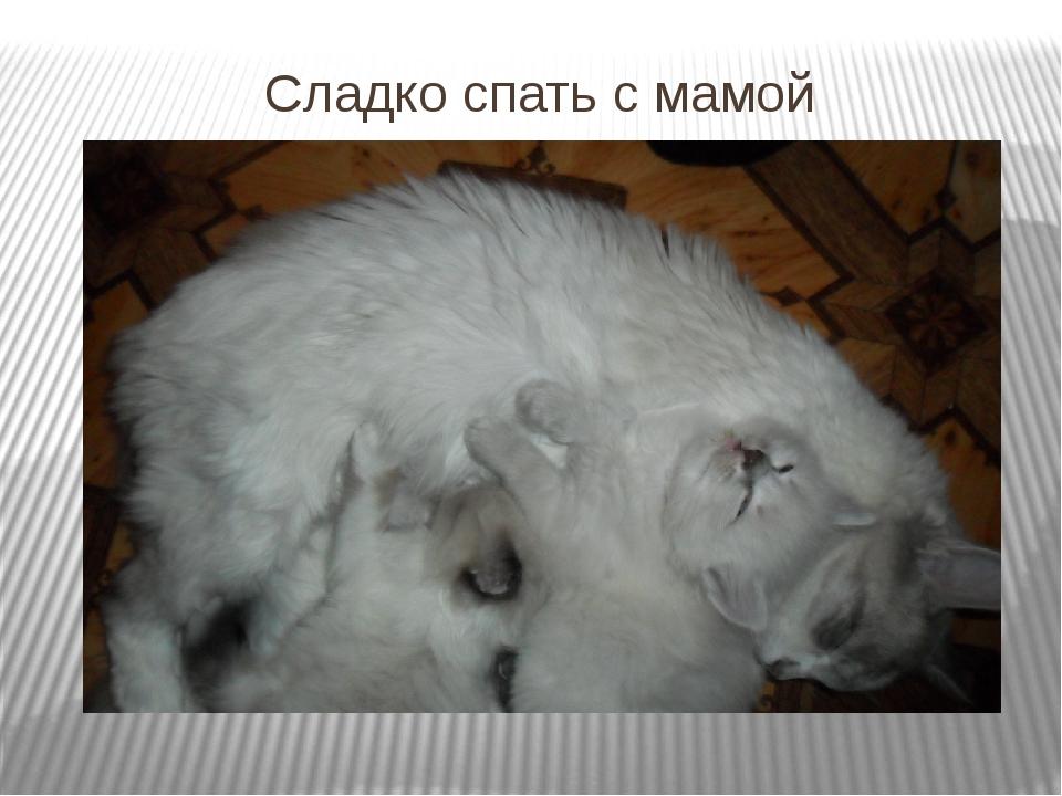 Сладко спать с мамой