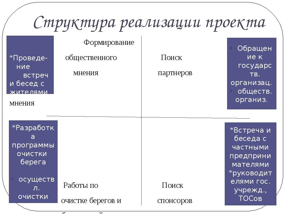 Структура реализации проекта ВВвВВВВВв Формирование общественного Поиск мнени...