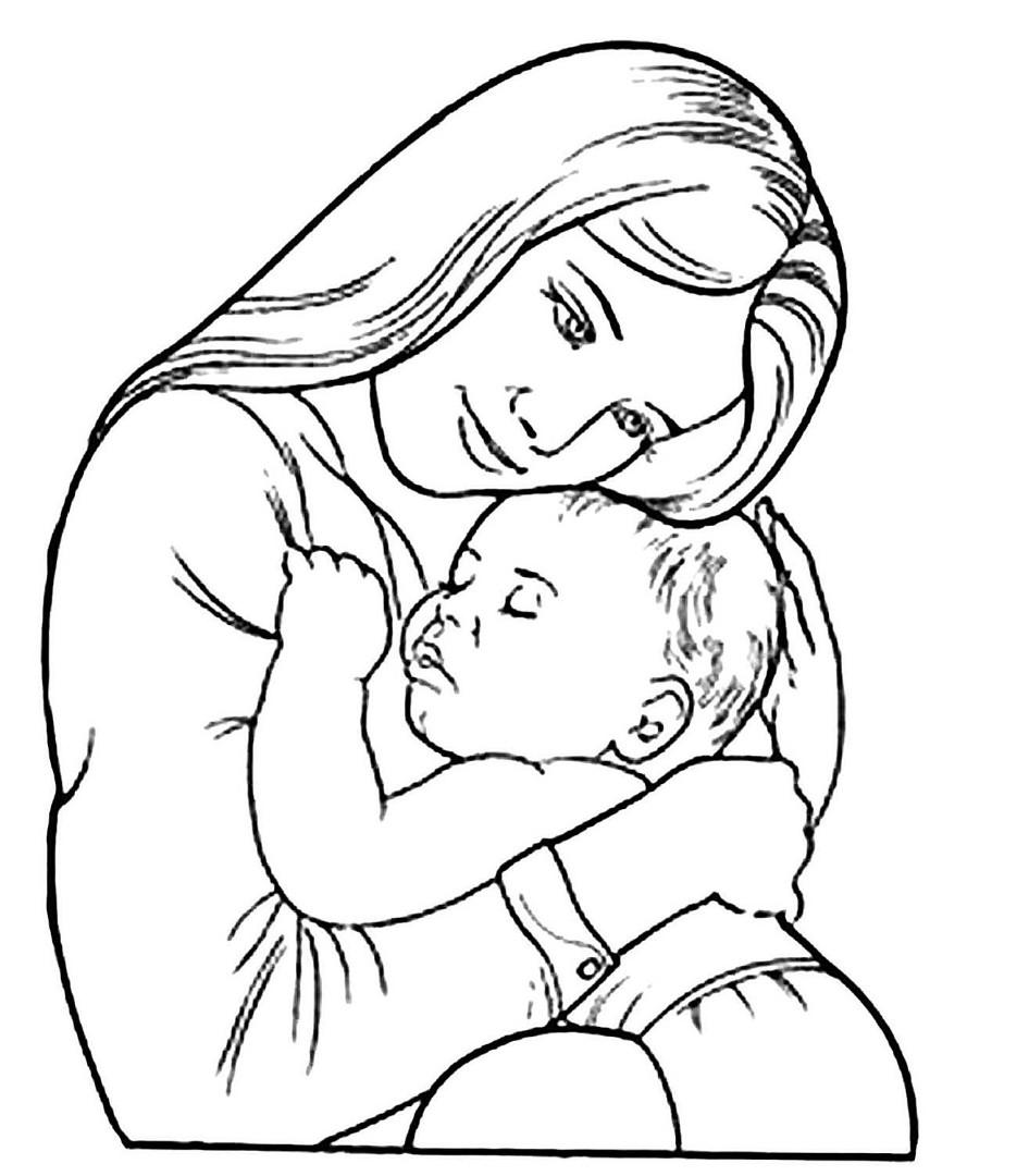День матери картинки рисунки карандашом