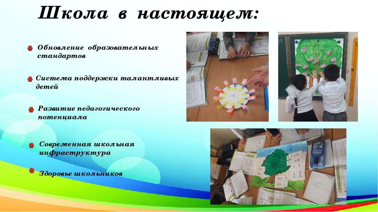 Школа в настоящем: Обновление образовательных стандартов Система поддержки та...