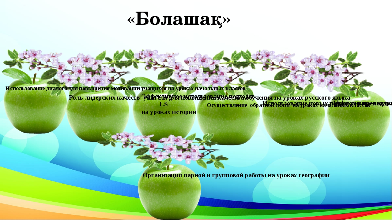 «Болашақ» Осуществление обратной связи на уроках начальных классов Эффективно...