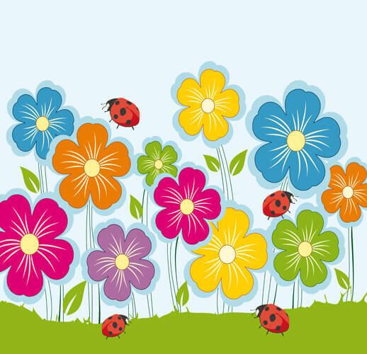 Картинки цветочки на полянке