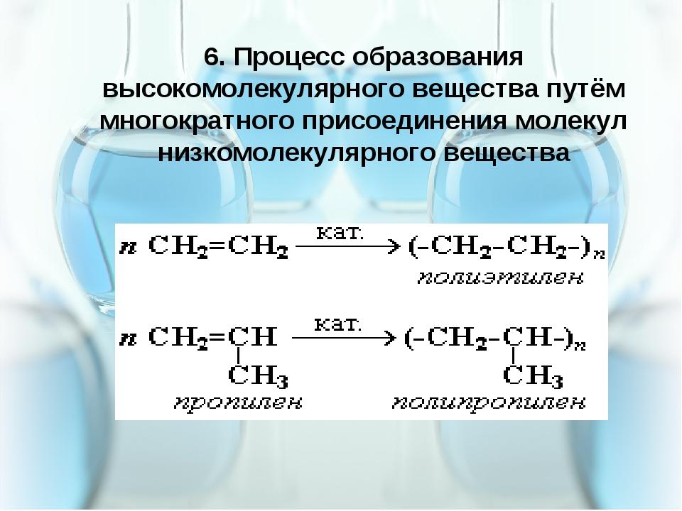 5.4.16 6. Процесс образования высокомолекулярного вещества путём многократног...