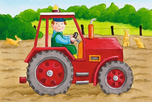 Марта, открытки трактористам