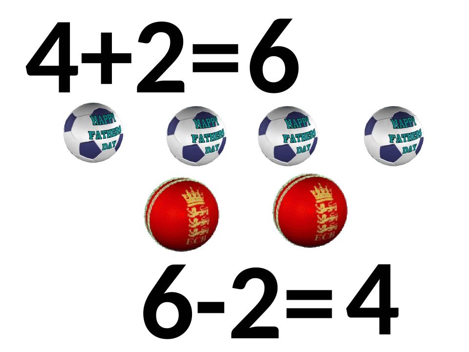 4+2= 6 6-2= 4