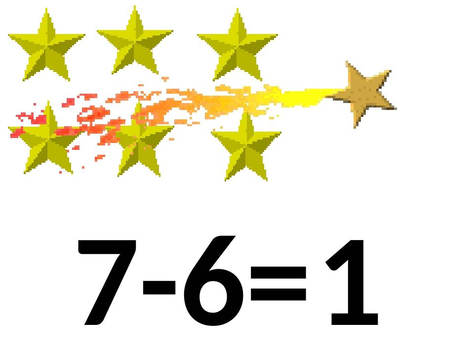 1 7-6=