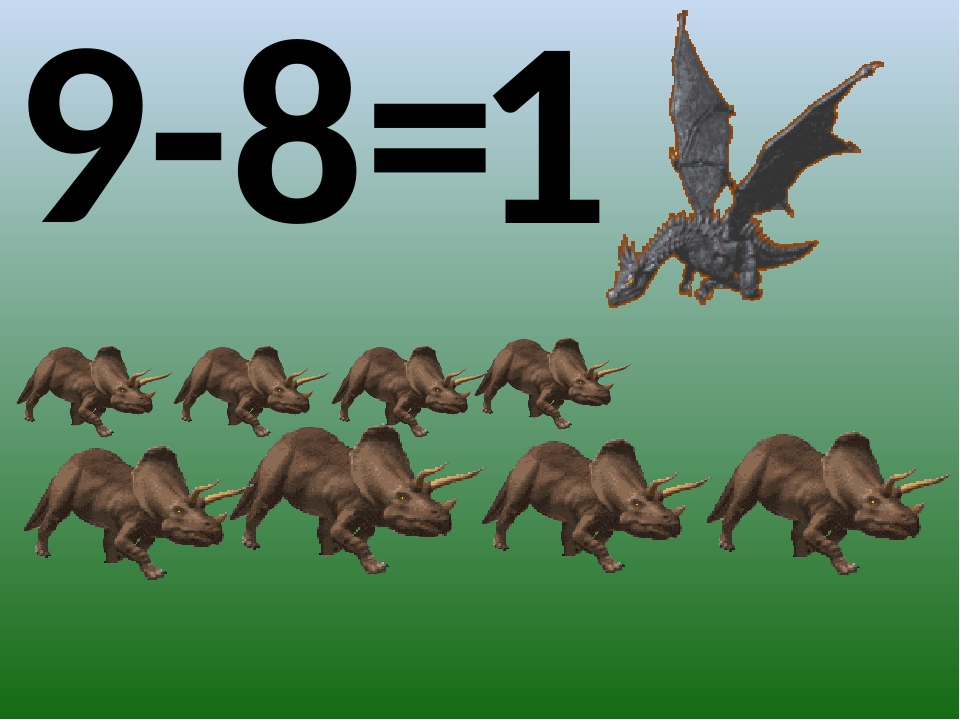 9-8= 1