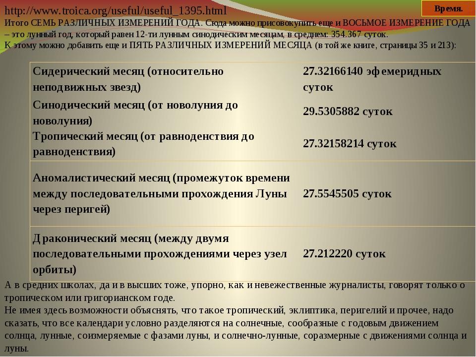 http://www.troica.org/useful/useful_1395.html Итого СЕМЬ РАЗЛИЧНЫХ ИЗМЕРЕНИЙ...
