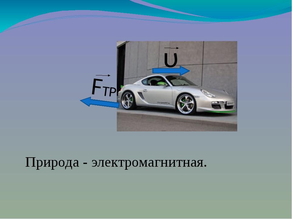 υ FТР Природа - электромагнитная.