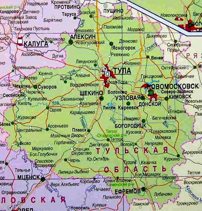 тульская область на карте россии фото вместе этим