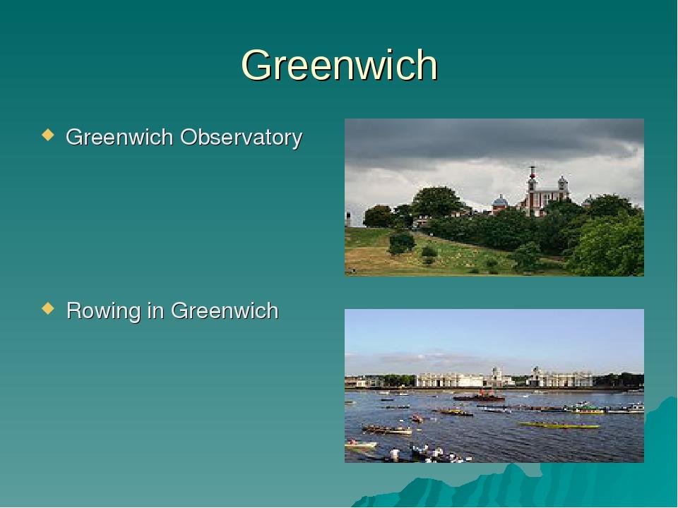 Greenwich Greenwich Observatory Rowing in Greenwich