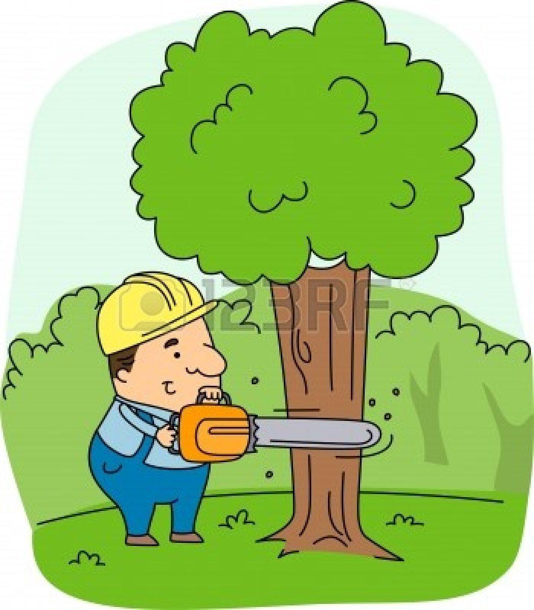 Картинки пилить дерево для детей