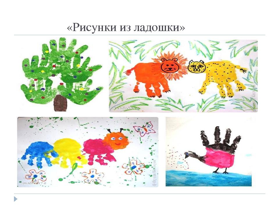 Рисунки из ладошки презентация