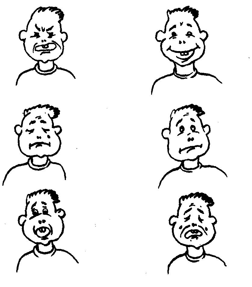Разная мимика лица картинки для детей